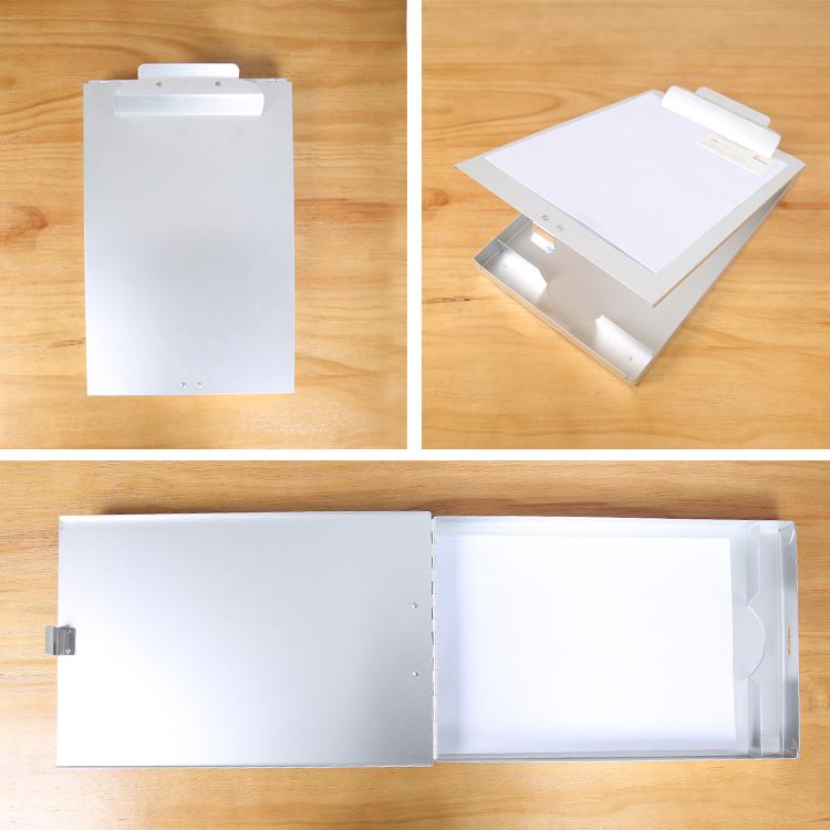 (High) 저 (quality 도매 알루미늄 dual storage 클립 보드 클립, 접는 알루미늄 metal 클립 보드 클립 와 storage