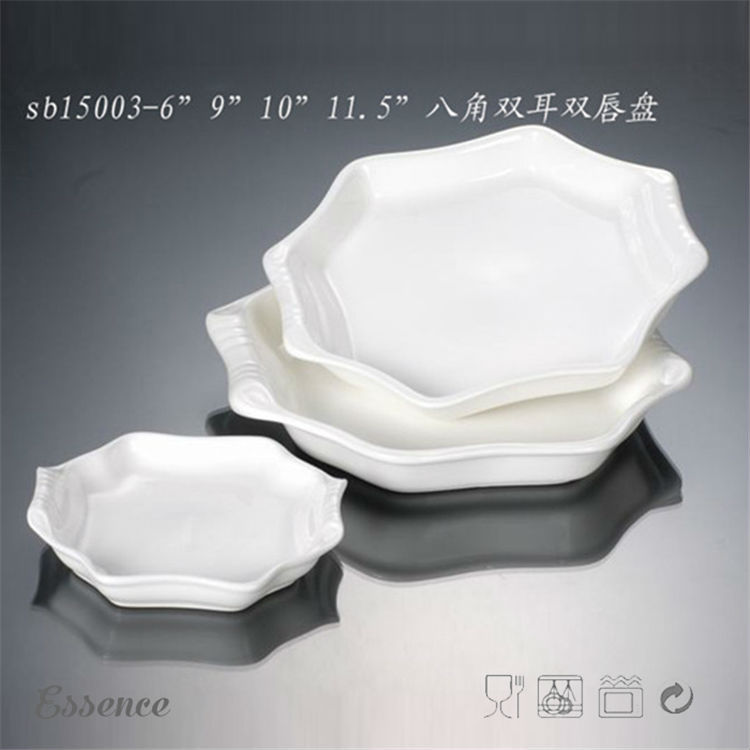 Different size OEM white porcelain kids plates