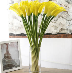 Hot selling real touch PU calla lily artificial flowers