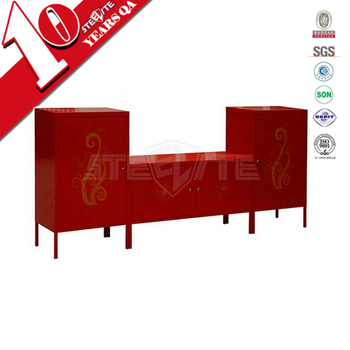 High Quality Home Furniture Tv Stand With Leg / 2 Door Living Room Red  Color Tv