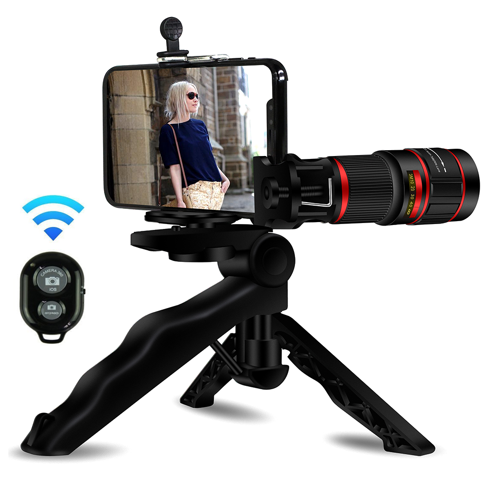 Amazon Top Seller 2019 Mobile Phone Camera Lens 20X Zoom Telephoto Lens with tripod for iPhone XS Max