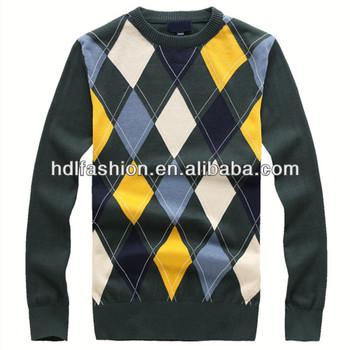 Latest Woolen Man Argyle Sweater Knitting Pattern Buy Argyle
