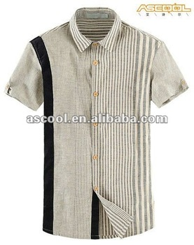 High Quality Comfortable And Soft Linen Cotton Yarn-Dyed Casual Shirts For Men