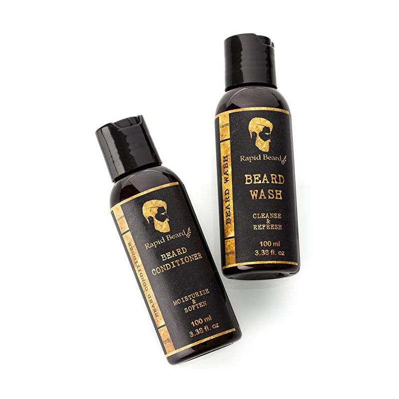Barba Grooming Kit Per La Cura con sorgente anche Barba Barba Pennello Olio biologico Balsamo