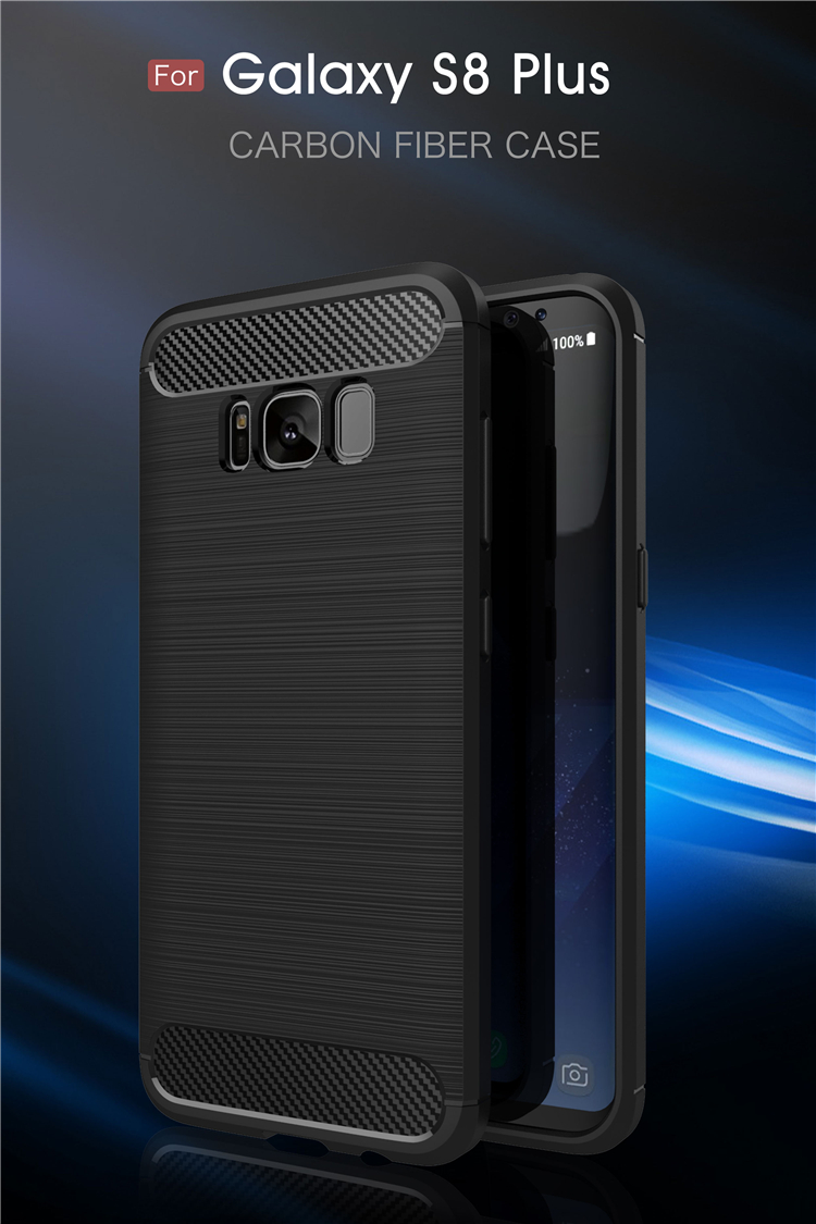Best quality carbon fiber tpu cell phone case for Samsung Galaxy S8 Plus back cover