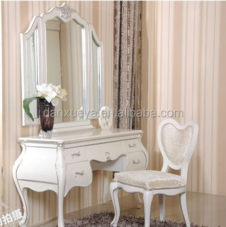 White bedroom furniture dresser table mirror and chair, View antique  dressing table, danxueya Product Details from Foshan Danxueya Furniture  Co., Ltd. ...