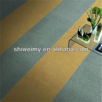 Plain Pattern Thin 50x50cm Nylon Material Carpet Tile