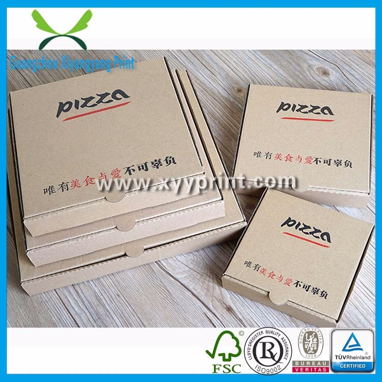 Custom take away brown kraft paper pizza box, corrugated box for pizza