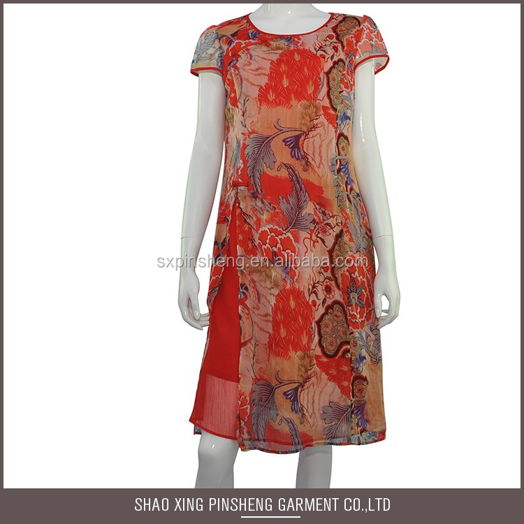Best Quality Chiffon printed dress
