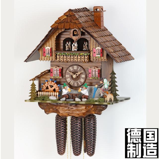 for t noire coucou coucou horloge m canique horloge horloge murale de mode de table dans. Black Bedroom Furniture Sets. Home Design Ideas