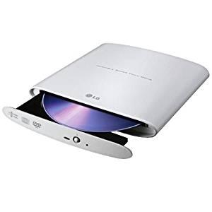 LG Electronics GP08NU20 8X Super-Multi Slim DVD+/-RW Dual Layer External Drive (White)