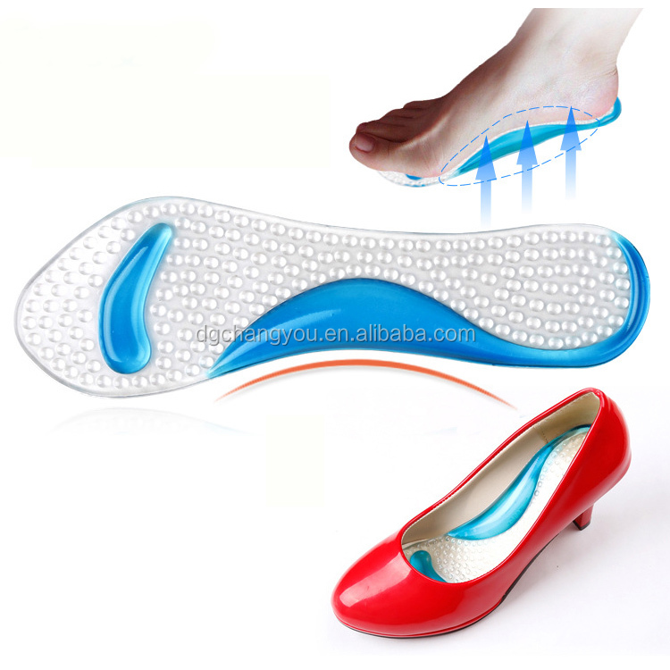 arch support massage lady's high heel plantar fasciitis insoles wholesale