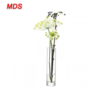 Cheap Narrow Necked Handmade Glass Column Flower Vase Glass Buy