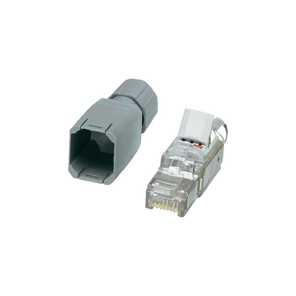 Phoenix Contact 1656725, 8 Pin RJ45 Plug, Cable Mount Grey