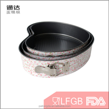 Professional thick baking ware ceramic buckle baking pan carbon steel bakeware with lid and set