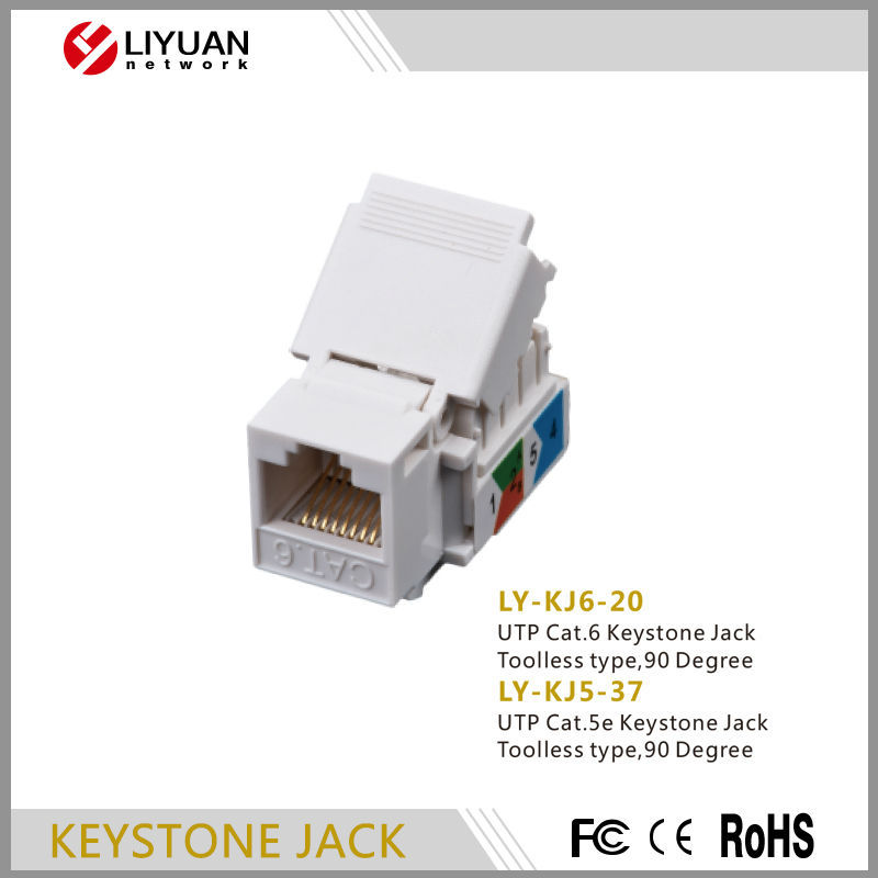 KJ6-20 rj45 cat5e Toolless keystone jack modules