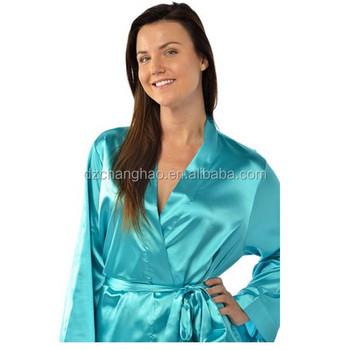 b8c705b350e0f Длинный Шелковый Халат Ночная Рубашка - Buy Длинная Шелковая Ночная ...