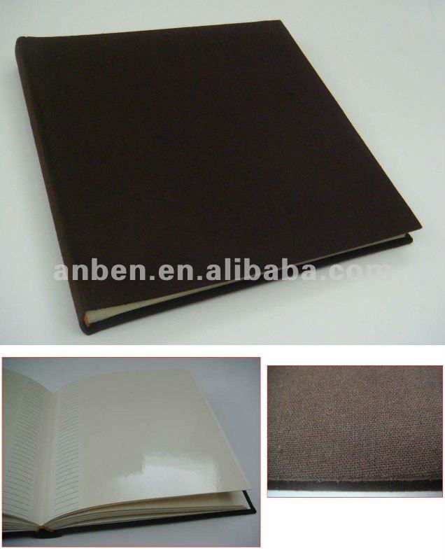 "30 sheets self adhesive photo album 8""x10"" with fabroic cover"