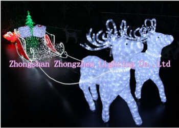 led light up santa reindeer sleigh xmas decorations