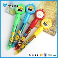 Xinghao creative multicolor ink Smiling face electronic watch push light ballpoint pen for school