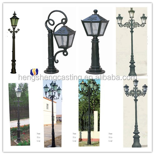 Cast Aluminum Decorative Street Light Pole Base Light Pole Base