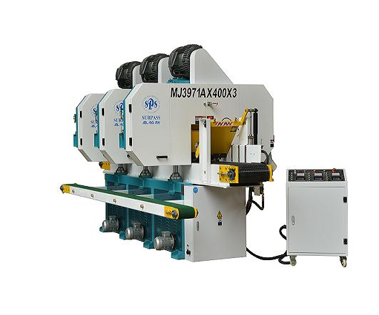 Multi-hoofd horiszontal band resaw machine