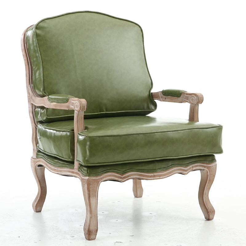 D20 Accent Antique Chairs With Scrolling Arms Solid Hardwood Frame