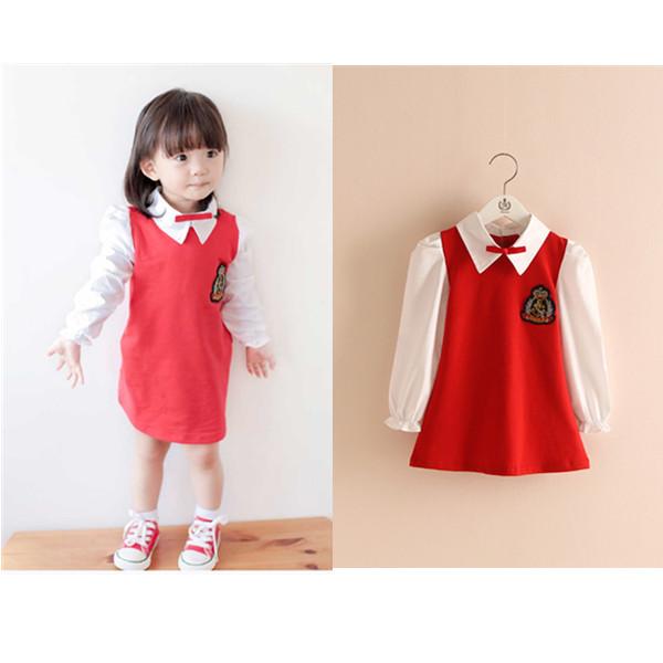 Hotting Korean School Girl Dress 2016 Spring New Fashion ...