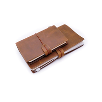 Classic Refillable Pages Customized Handmade Journal Printing Bound Cover Genuine Leather Travelers Notebook