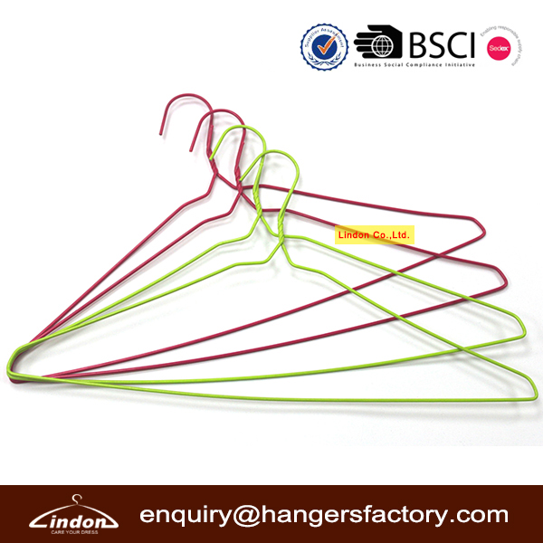 Assessed Supplier LINDON factory wholesale cheap PVC wire metal hanger