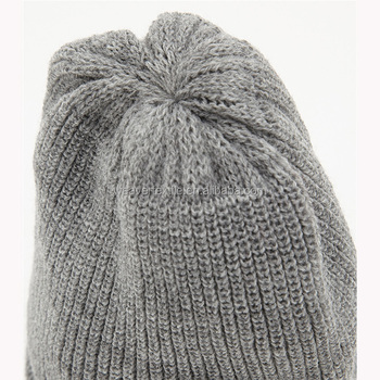 Custom Your Own Cheap Knitting Patterns Plain Teenagers Beanie Hats