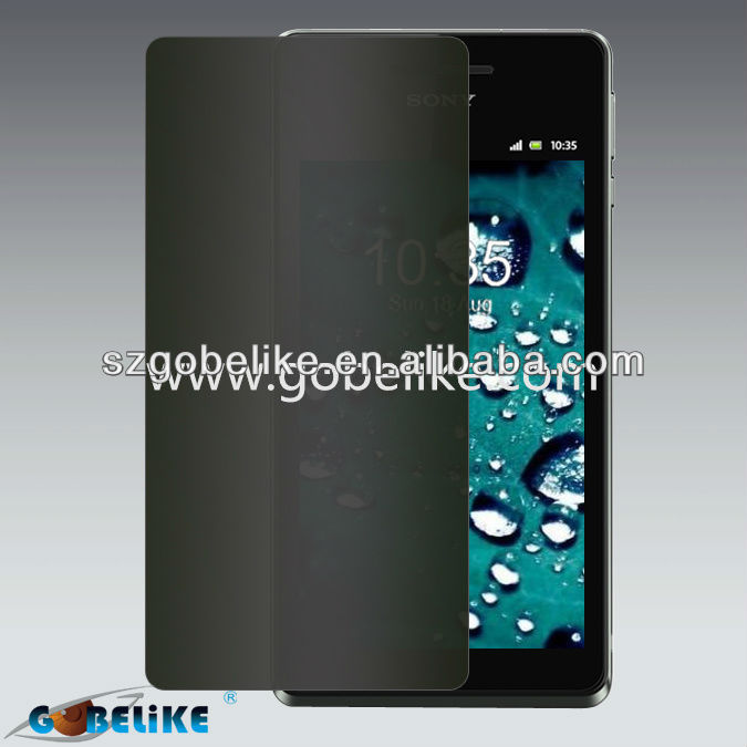 Factory supply privacy screen protector sony xperia v
