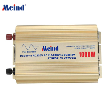 Meind DC to AC 1000W Pure Sine Wave Power Inverter with battery charger