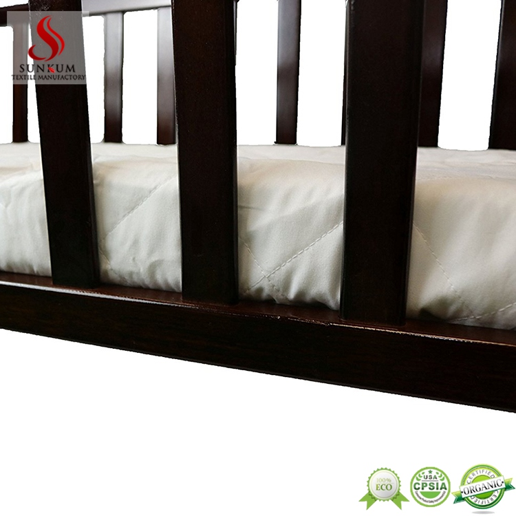 china supplier peach microfiber fabric foldable mattress size baby waterproof mattress pad cover with fitted skirt