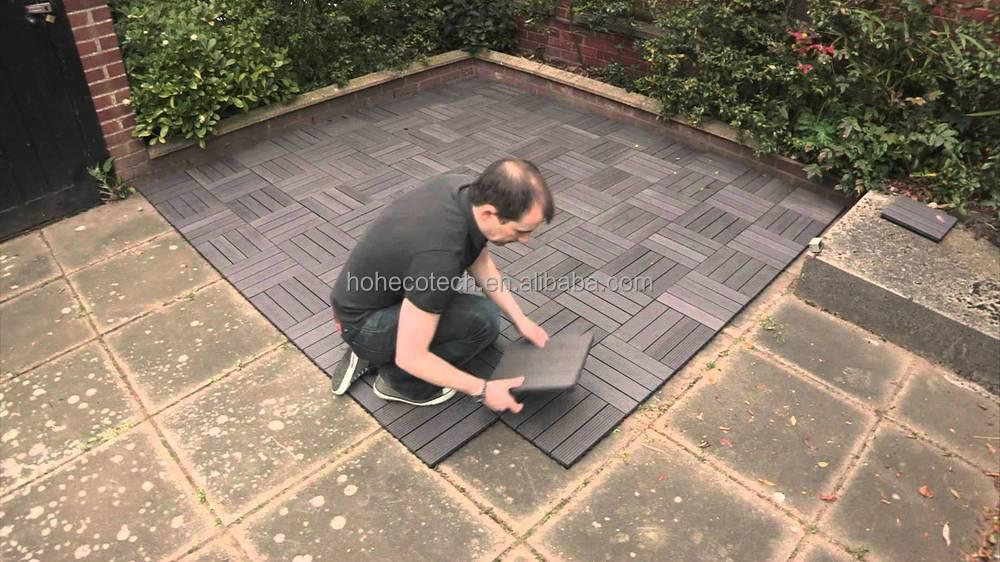 Wpc decking mattonelle diy solare decking piastrelle wpc