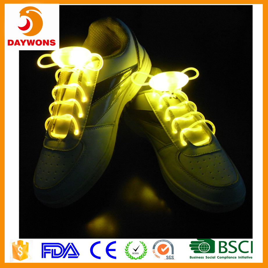 LED colorful fluorescent lazy shoelaces Battery Powered Flash Lighting the Night for Party Hip-hop Dancing Running