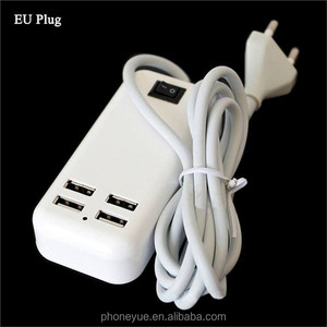 Top Quality Universal EU US Plug AC Power Adapter 1.5m Cable Multi 4 USB Ports Fast Laptop Desktop Wall Charger