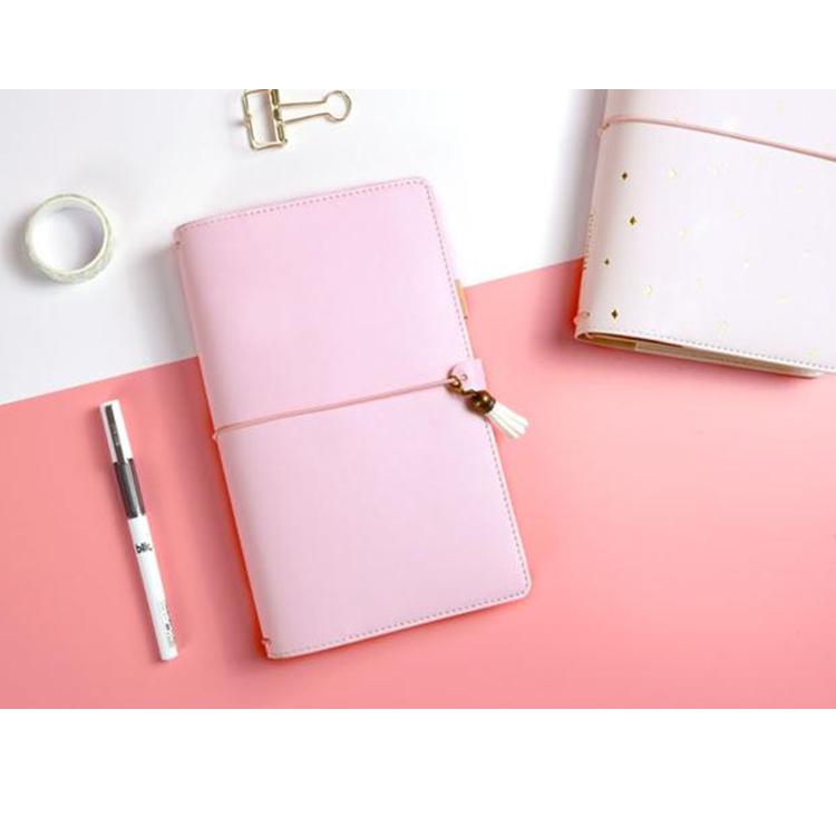 Di alta qualità del cuoio genuino notebook copertina morbida loose-leaf notebook con elastico