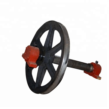 Block cable rope head sheave crown pulley for sale