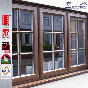 wood grain upvc sliding double glazing glass window and door