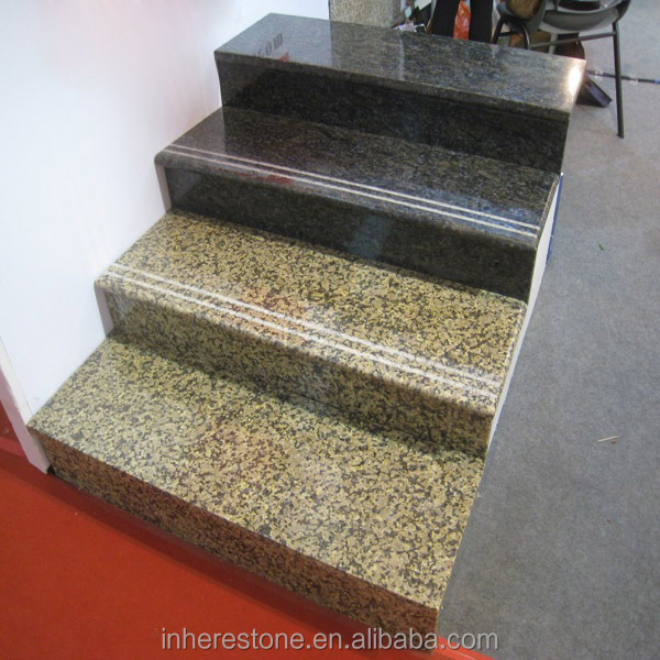 Golden Diamond Granite Stair Steps Tiles For Stairs