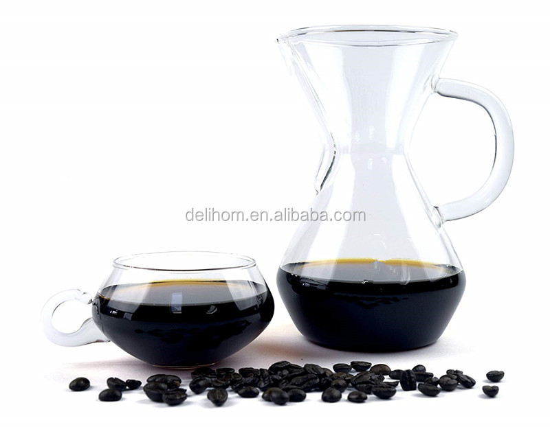 Pour Over Coffee Maker 3 Cup/17oz Brewer Borosilicate Glass Carafe Stainless Steel Filter Easy to Clean Coffee Dripper