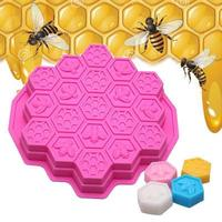 19 cavity bee honeycomb silicone cake mold decorative soap mold