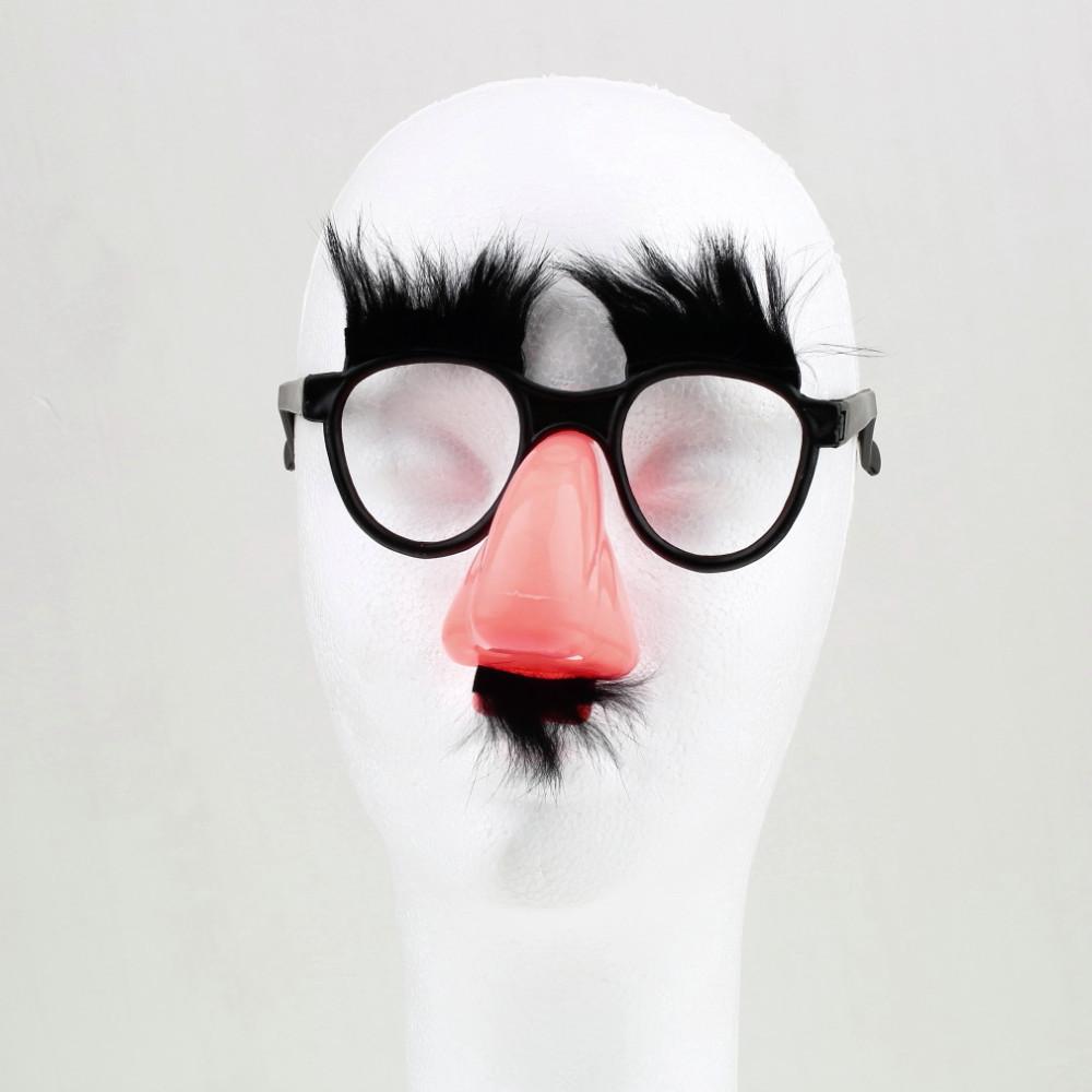 Faux Nez Sourcil Moustache Clown Fantaisie habiller Costume Accessoires  Fête Faveur Lunettes 9d78a476fd7b