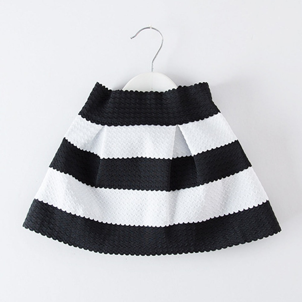 Girls Tutu Skirt Baby Children Girls Black And White Princess Party Skirts Kids Pettiskirts 2015 New