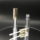 Clear Perfect Empty Plastic Clear Lip Gloss Tubes With Silver Cap