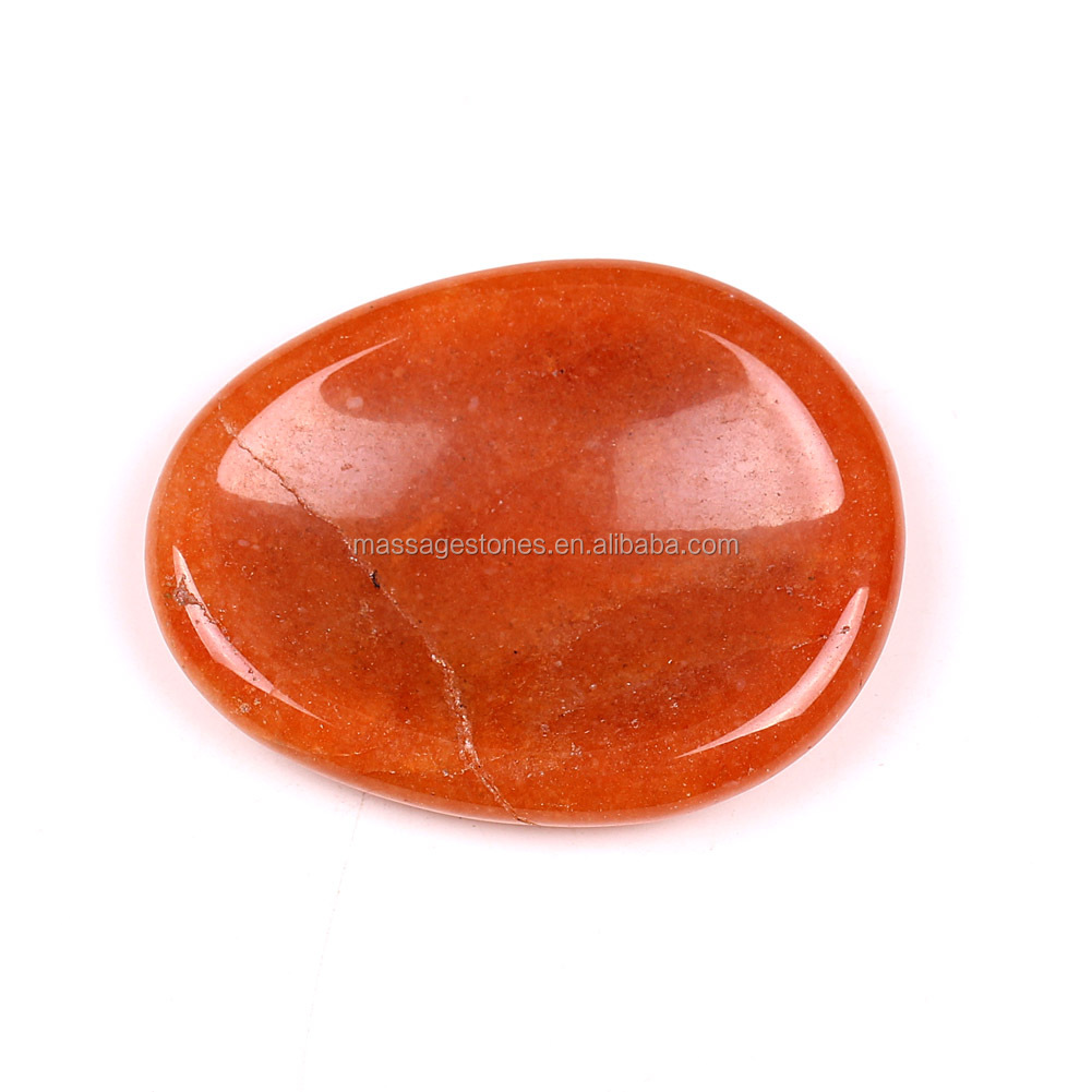 Best Choice Red Aventurine Worry Stone Gifts For Kids&Mothers in Bulk Wholesale / Spiritual Healing Business Gift