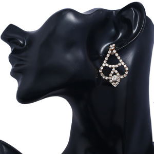 Hot sale multilayer horse eye diamond gold earring for women wear