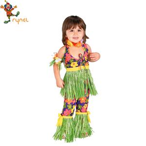 57f1a2b0e03 Kids Funny Costumes Hawaiian Skirt With Hulo Cosplay Kids Costumes PGCC4046