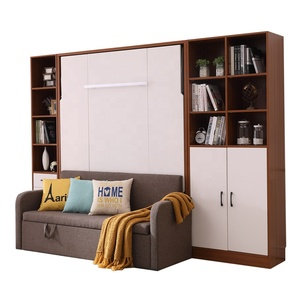 High Quality Italian Convertible Furniture Vertical Space Saving Queen  Murphy Bed With Sofa